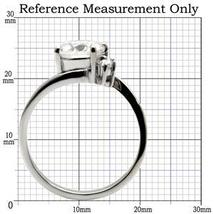 Stainless Steel 2 Carat Cubic Zirconia Engagement Ring - SIZE 5 - 10 image 3