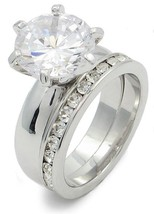 4.78 Carat Round Solitaire CZ Engagement & Wedding Rings - SIZE 7, 8 - $18.22