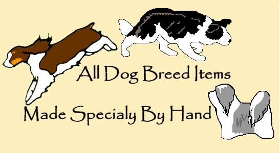 Irish Red and White Setter crate tag or home decor, hang anywhere, dog handmade