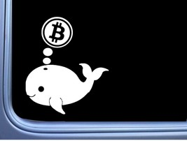 Bitcoin whale 15.2cm decal os 019 crypto currency sticker - $6.58