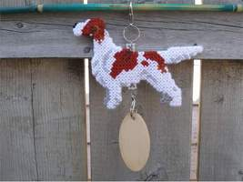 Irish Red and White Setter crate tag or home decor, hang anywhere, dog h... - $26.00