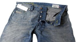 NEW DIESEL MEN'S PREMIUM DENIM REGULAR SLIM STRAIGHT DESIGNER JEANS SAFADO 0811M image 5