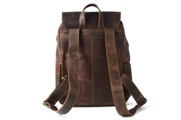 Sale, Vintage Handmade Leather Backpack, Men's Leather Backpack, Travel Backpack image 6
