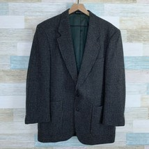 Woolrich VTG Wool Tweed Sport Coat Jacket Grey Houndstooth 2 Button Mens... - $89.09