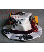 White and Black Gothic Halloween Steampunk Mini Top Hat - $9.99