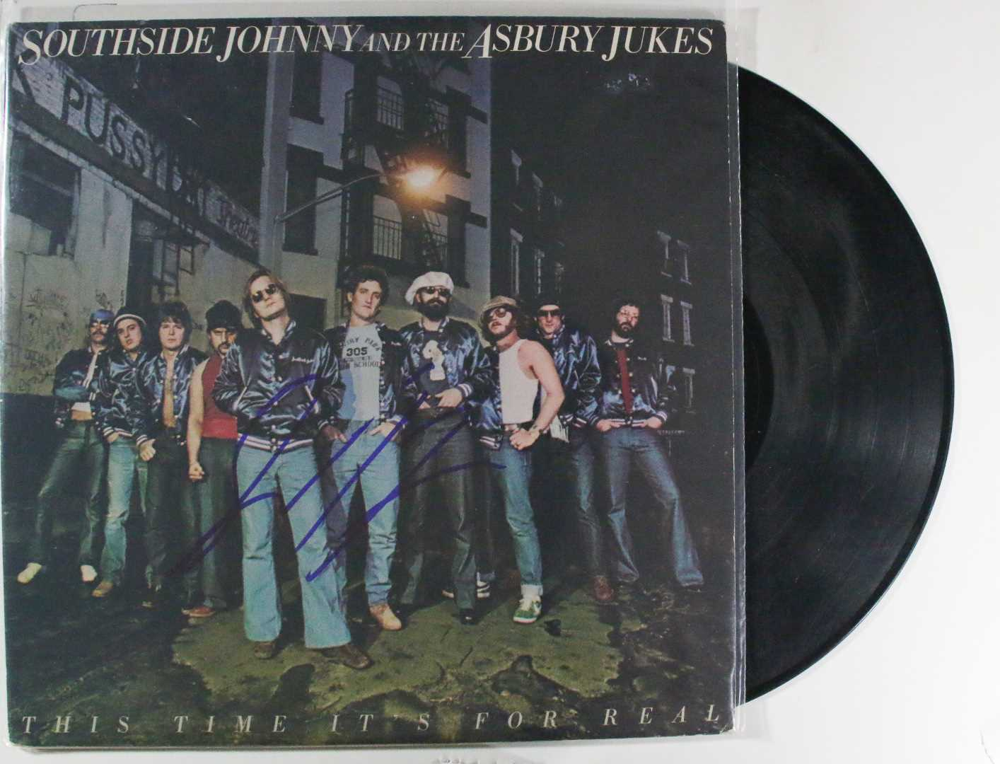 Primary image for Southside Johnny Signed Autographed ''This Time It's For Real''' Record Album