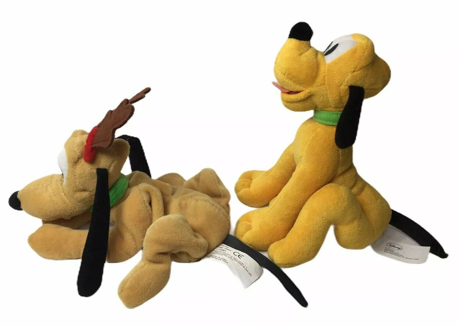 "Primary image for Disney Plush Toy Lot Of 2 Pluto's Disney Store Reindeer Pluto 8"" & Pluto 6"""