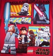 Star Wars DARTH Storm Troopers LEGO Boy's Red Shirt 14/16 NeW