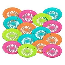 "1 Dozen of Reusable Plastic Holders for 9"" Paper Plates Bright Colors - $18.58"