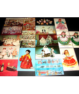 17 Vintage 1960-80 POSTCARDS Dolls Dollhouse Toys Doll House Collectible... - $24.69