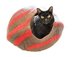 The Neko Cafe Premium Cat Cave (Large) - Handmade 100% Merino Wool Bed a... - £44.64 GBP