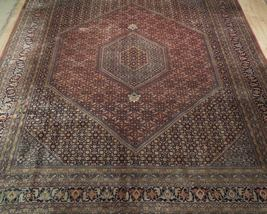 10 x 13 Brick Red Black New Indian Bijar Red Jaipur Wool Handmade Rug image 9