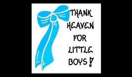 Baby Boy Magnet Quote - infants, babies, blue bow - $3.95