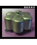 Vintage PEWTER TRINKET BOX with Rhinestones - $30.00