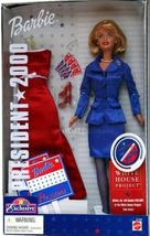 Blonde Barbie for President 2000 Mattel with Red Gown - $15.00