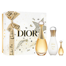 Christian Dior J'adore 3.4 Oz Eau De Parfum Spray + Body Lotion 3 Pcs Gift Set image 1