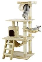 """Go Pet Club 62"""" Cat Tree Condo Furniture Beige Color - $68.26"""