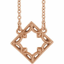 Vintage-Inspired Geometrische Halskette IN 14K Rose Gold - $243.62