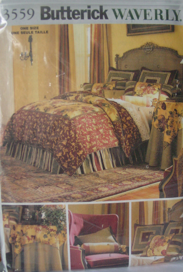 Primary image for Pattern  3559 Duvet Cover, Dust Ruffle, Shams, Tablecloth Pillows & Drapes