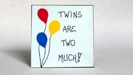 Twins Refrigerator Magnet, multiple births, double siblings - $3.95
