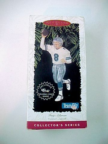 Vintage 1996 Hallmark Football Legends Troy Aikman Ornament