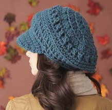 Slouchy Brimmed Newsboy Hat...custom made for all sizes - $35.00