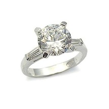 CZ ENGAGEMENT RING - 2 CT. Solitaire Cubic Zirconia Ring -SIZE 7, 8, 10 image 1
