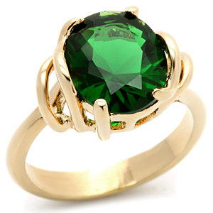 Oval Emerald Green Cubic Zirconia Ring - SIZE 5, 6 (LAST ONES)