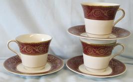 Castleton Flamenco Red Gold Cup & Saucer set of 3 - $34.54