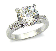 CZ ENGAGEMENT RING - 2 CT. Solitaire Cubic Zirconia Ring -SIZE 7, 8, 10 image 2