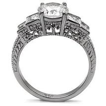 Antique Inspired Five Stone Cubic Zirconia Engagement Ring  - SIZE 5 to 10 image 3