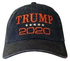 Treefrogg Apparel Trump 2020 Hat - Trump Cap (Distressed Black/Orange Tr... - $17.99