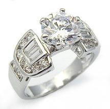 2.75 Carat Solitaire & Baguette Cubic Zirconia Engagement Ring - SIZE 5, 7,10 image 3