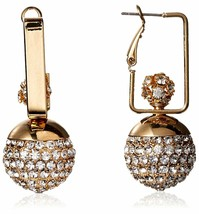 Large Daniela Swaebe 18K Gold-Plated Disco Diva Rectangle Drop Earrings image 1