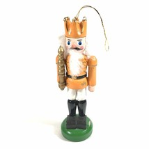 "Vintage Golden King Nutcracker Christmas Ornament 5"" - $4.95"