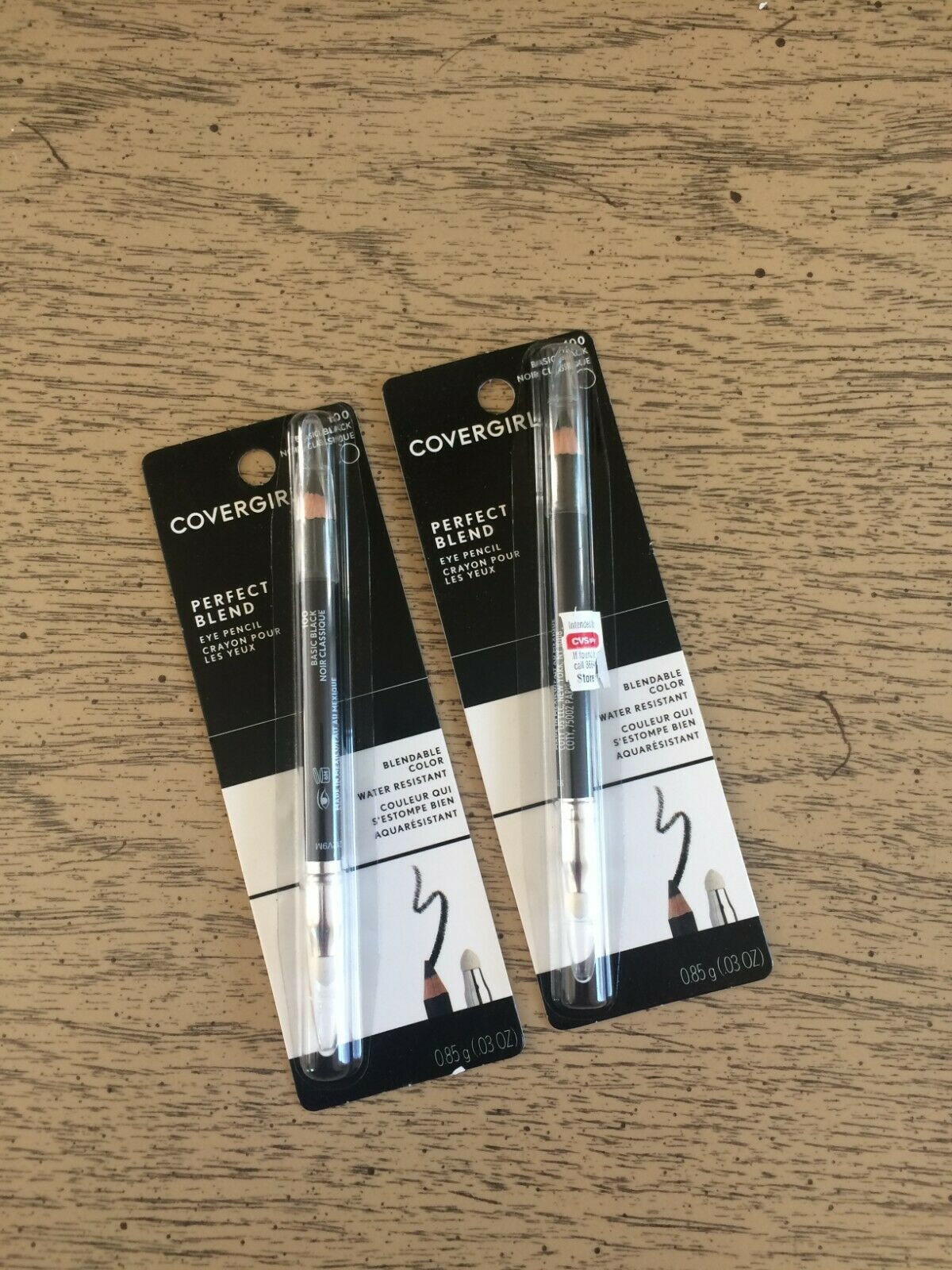 Primary image for 2 Covergirl Perfect Blend Eyeliner Pencil - #100 Basic Black NEW Lot of 2