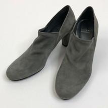 Women's Gray Stuart Weitzman Suede Ankle Bootie, Size 9 - $95.67