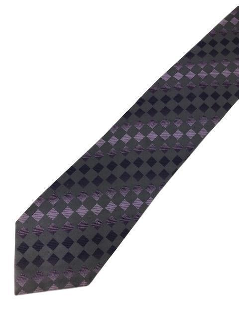 """New KENNETH COLE REACTION Silk TIE Purple, Grey Designer 59"""""""