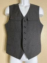 Kenneth Cole Reaction Men Size S Gray Pinstriped Vest - $10.53