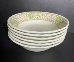 """Set Of 6 Churchill England Chartwell Transfer Ware Cereal Salad Bowls 6""""... - $19.31"""
