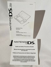 Nintendo DS Lite Instructions Manual & Safety Booklet Only  - $12.59