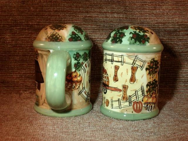 """Barnyard Harvest"" Salt and Pepper Shakers - Unique, Mint Items!"