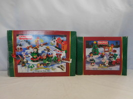 Fisher Price Little People Christmas Train Set + Tree Lighting in Discovery Park - $146.53