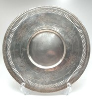 Vintage W.M. Rogers Silver Plate Ornate Floral Round  Serving Plate - $34.65