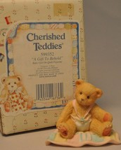 Cherished Teddies - A Gift to Behold - 599352 - Baby Girl Quilt Figuine - $12.66
