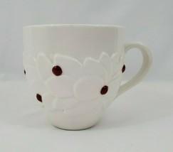 Starbucks Coffee Mug 2004 Christmas Holidays White Ceramic Holly Red Ber... - $9.85