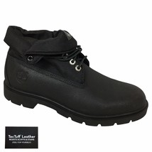 Timberland Men's Basic Roll Top Black TecTuff Scuff Proof Leather Boots ... - $89.99