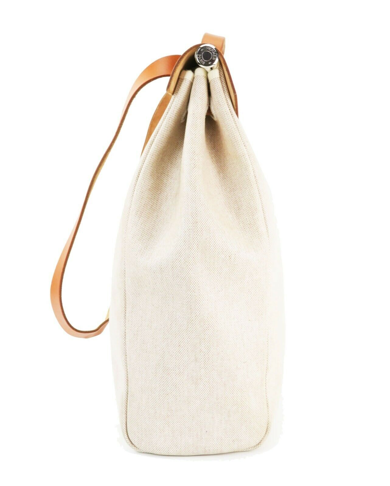 Auth HERMES Her Bag 2 in 1 Beige Canvas and Leather Hand Shoulder Bag #26110 image 5