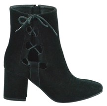Brand New Women's Rue 21 Gila Block Heel Cut Out Side Laced Boots Black US 9 image 1