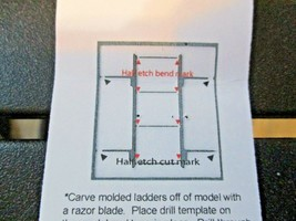Trainworx Stock # 602 Freight Car Ladders with Drill Template # 80 Drill N-Scale image 2
